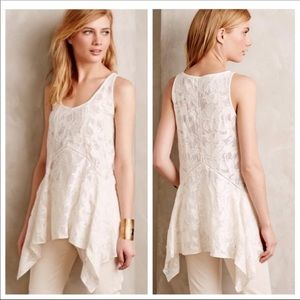 Anthro Vanessa Virginia Lacework Tank Size Small